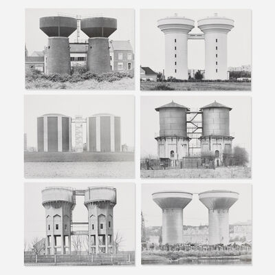 Bernd and Hilla Becher, 'Sechs Doppelwasserturme (Six Double Water Towers) portfolio', 1972