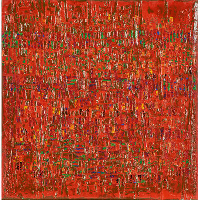 Hector Leonardi, 'Untitled (red abstract)'