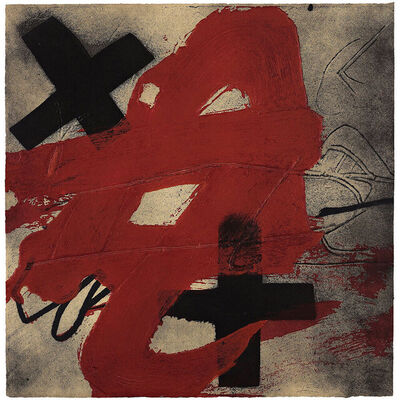 Antoni Tàpies, 'A.T.', 1985