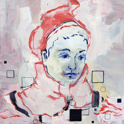 Claudia Rößger, 'CR mit roter Mütze', 2018