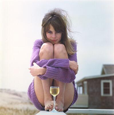 William Helburn, 'Jean Shrimpton Wine Glass, Westhampton Beach, NY', 1964
