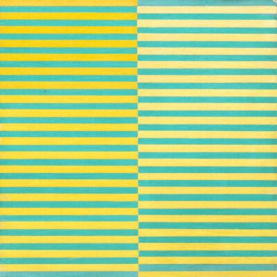 Dadamaino, 'Ricerca del colore. Giallo su azzurro', 1966-68