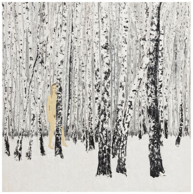 Stephan Balkenhol, 'Birch-Wood', 2018