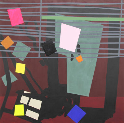 Bruce McLean, 'Shade Painting: Burgundy', 2016