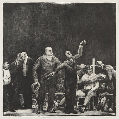George Wesley Bellows, 'Introducing John L. Sullivan.', 1916