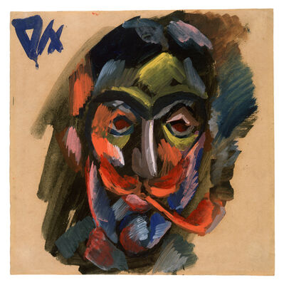Otto Dix, 'Head of a Man with Pipe', ca. 1917