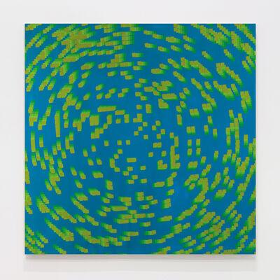 François Morellet, '20% de carrés dégradés pivotés au centre 5 fois', 1970
