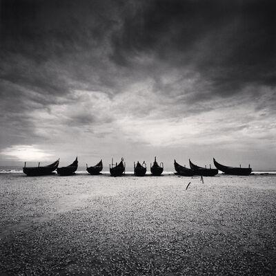 Michael Kenna, 'Nine Boats, Andakarnnazi Beach, Kerala, India. ', 2008