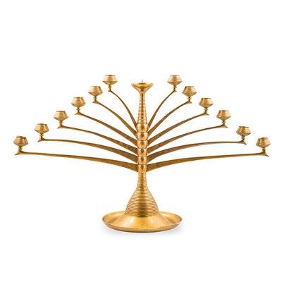 Bruno Paul, 'Bruno Paul important candlestick model 58 brass K.M. Seifert & Co.', ca. 1901