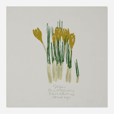 Corita Kent, 'Crocuses for spring', 1980