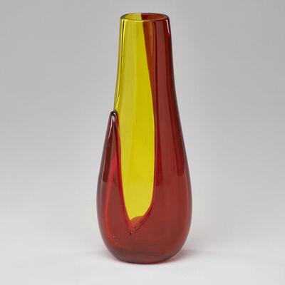 Archimede Seguso, 'A Colori Sovrapposti vase, model no. 11023', ca. 1966