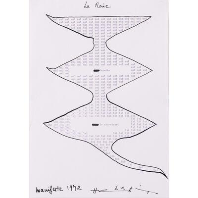 Henri Chopin, 'La Raie', 1972