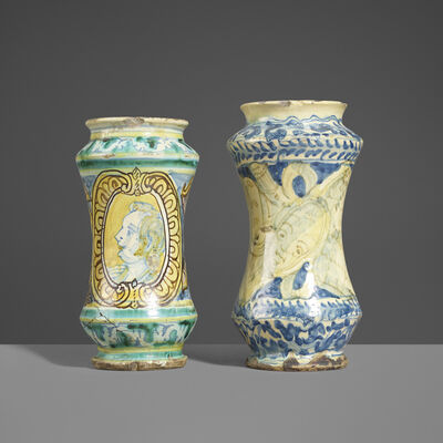 Unknown Spanish, 'Talavera Vessels, Set of Two', 18th Century