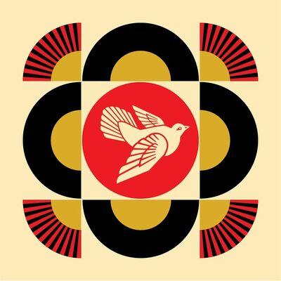 Shepard Fairey, 'Dove Geometric (Cream)', 2017
