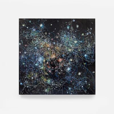 Kysa Johnson, 'Blow Up 304 - subatomic decay patterns and the Dark Clouds of NGC 2024', 2016