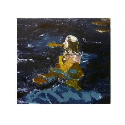 Clare Menck, 'Floating in indigo pool', 2019