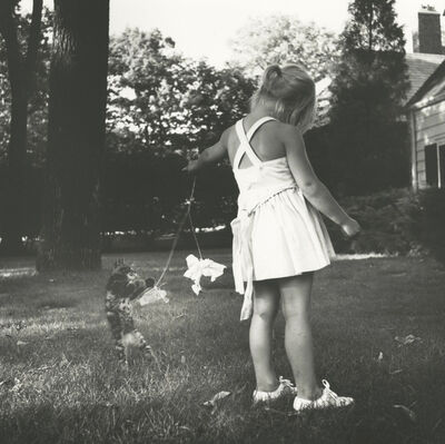 Vivian Maier, 'PF121310, Untitled, Chicago, IL, June 1971 Girl with Cat ', 1971