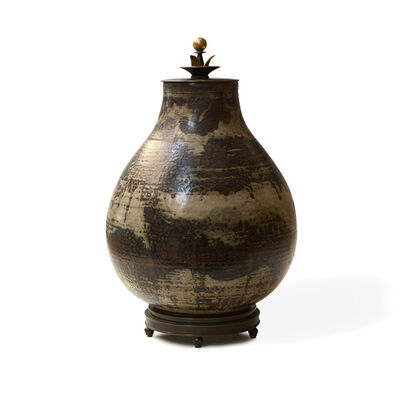 "Carl Halier, 'Vase with ""Sung"" glaze and bronze mounting'"