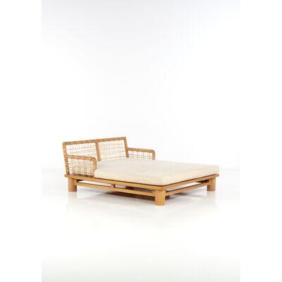 Karl Springer, 'Double Long Chair', 1975