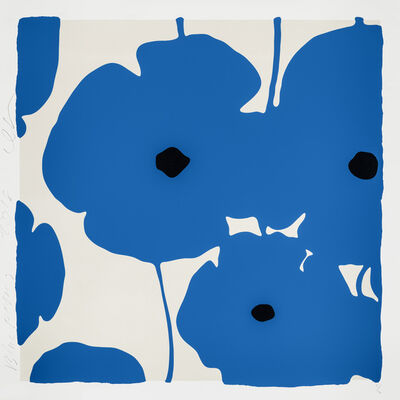 Donald Sultan, 'Blue Poppies', 2018