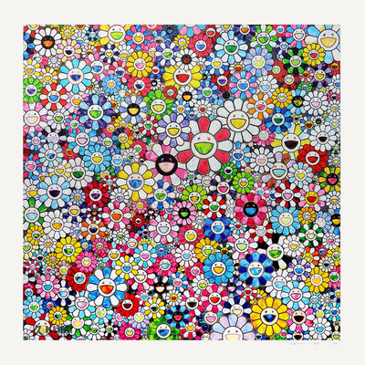Takashi Murakami, 'Flowers with Smiley Faces', 2020