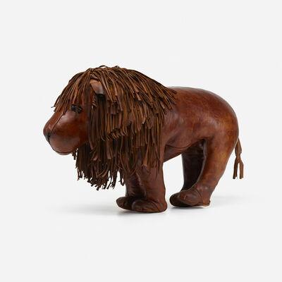 Omersa & Company, 'Rare lion ottoman', c. 1975
