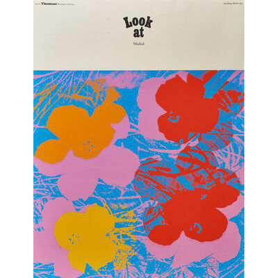 Andy Warhol, 'Look at Warhol (Flowers)  exhibition poster for Galerie Thomas', 1970