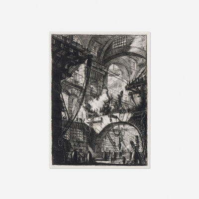 Giovanni Battista Piranesi, 'The Smoking Fire (Plate VI of the Second Edition, Second Issue, of the Carceri)', 1761