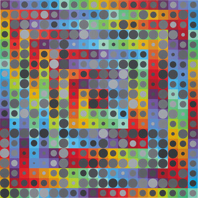 Victor Vasarely, 'Orion Gris'