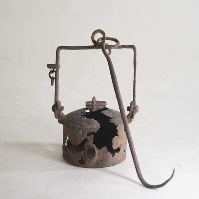 Unknown, 'Iron Oil Lamp', Turn of the 1900s