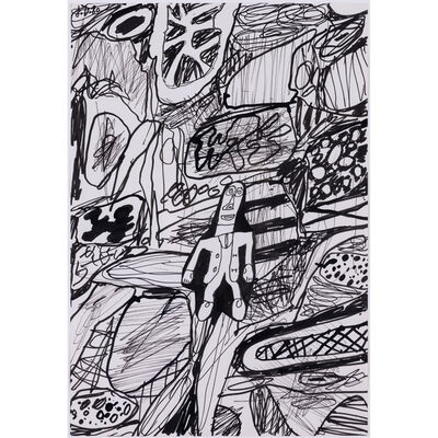 Jean Dubuffet, 'Paysage avec un personnage', 4 août 1980