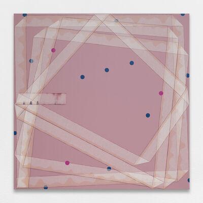 Noel Dolla, 'Plis et replis - suite rose ', 2018