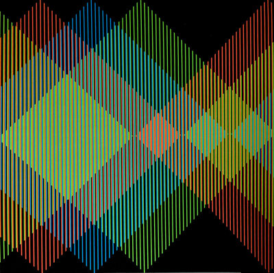 Carlos Cruz-Diez, 'Addition Chromatique RGB Serie Semana - Miércoles', 2013