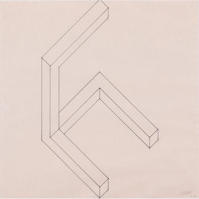 Sol LeWitt, 'Semi Cube Series', 1974