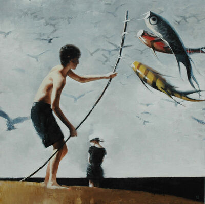 Gary Ruddell, 'Kite Flying'