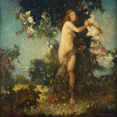 Ettore Caser, 'Forest Idyll', 1917
