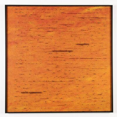 Ignasi Aballí, 'Orange / Joyce', 2014