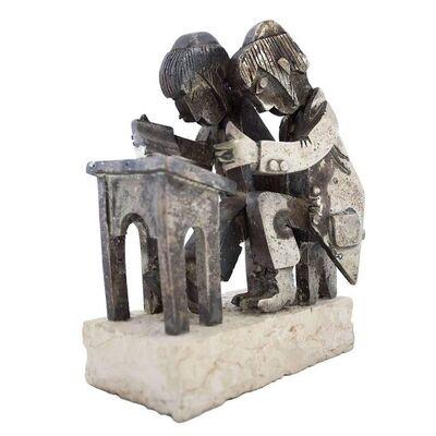 Frank Meisler, 'Rare Vintage Israeli Judaica Yeshiva Talmud Students Sculpture', 1960-1969