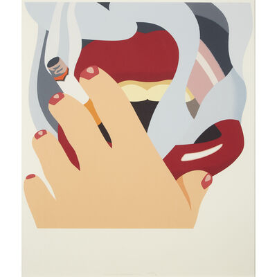 Tom Wesselmann, 'Smoker from An American Portrait', 1976