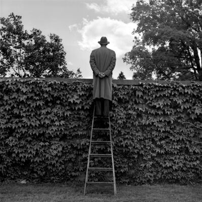 Rodney Smith, 'A.J. Looking Over Ivy-Coverd Wall', 1994