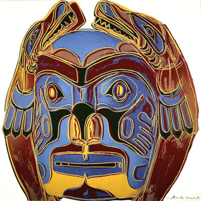 Andy Warhol, 'Northwest Coast Mask II.380', 1986