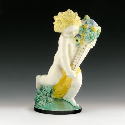 Michael Powolny, 'Rare Putto with Cornucopia (Summer)', Design around 1907-manufactured until 1912