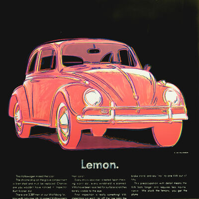 Andy Warhol, 'Volkswagen ', 1985