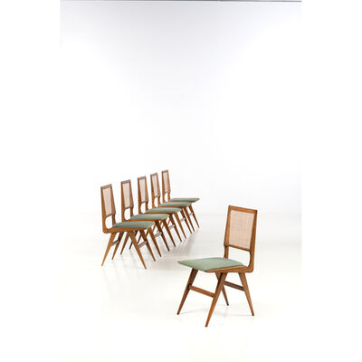 Martin Eisler, 'Set of six chairs', 1950