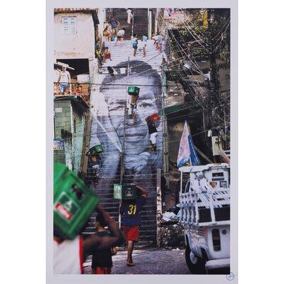JR, '28 Millimètres, Women are Heroes, Action dans la Favela Morro da Providencia, Escalier de Rio de Janeiro', 2008