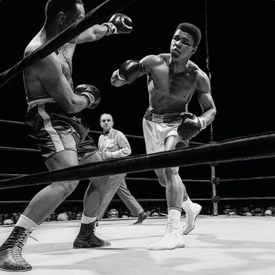 Neil Leifer, 'Neil Leifer. 'Ali vs. Folley, 1967' Photographic print, Dye Sublimation on ChromaLuxe aluminum panel ', 2020