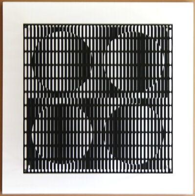 Antonio Asis, 'vibration 4 cercles noir et blanc', 2010
