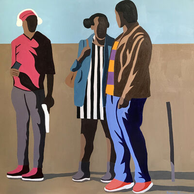 Shakes Tembani, 'Two Men and a Lady', 2019