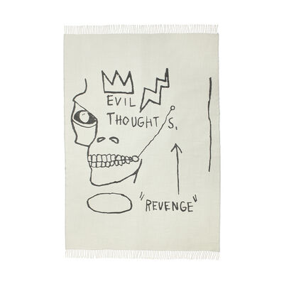 Jean-Michel Basquiat, 'Evil Thoughts Throw', 2020