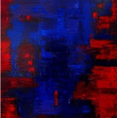 Catherine Timotei, 'Reflection Blue on red ', 2016